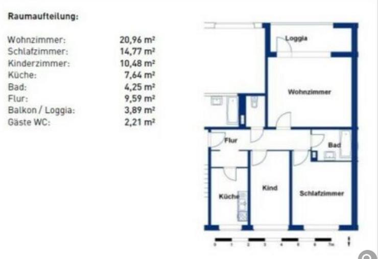 Bild 2: Von Privat: Vollständig renovierte und möblierte 3-Zimmer-Wohnung