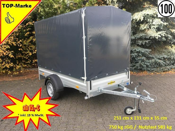 Anhängerverleih 750 kg mit 160 cm Hochplane Anhängervermietung ab