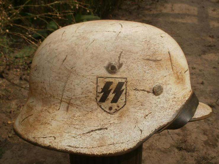 Stahlhelm M40 SS aus Wk2 (Camo) - Weitere - Bild 1