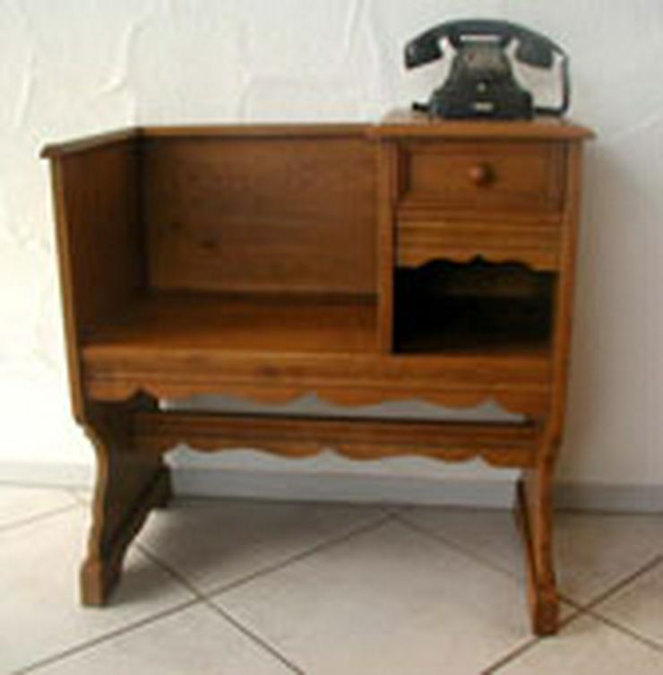 """Telefonbank """"BERND"""" vollmassive Eiche, handgefertigt"""