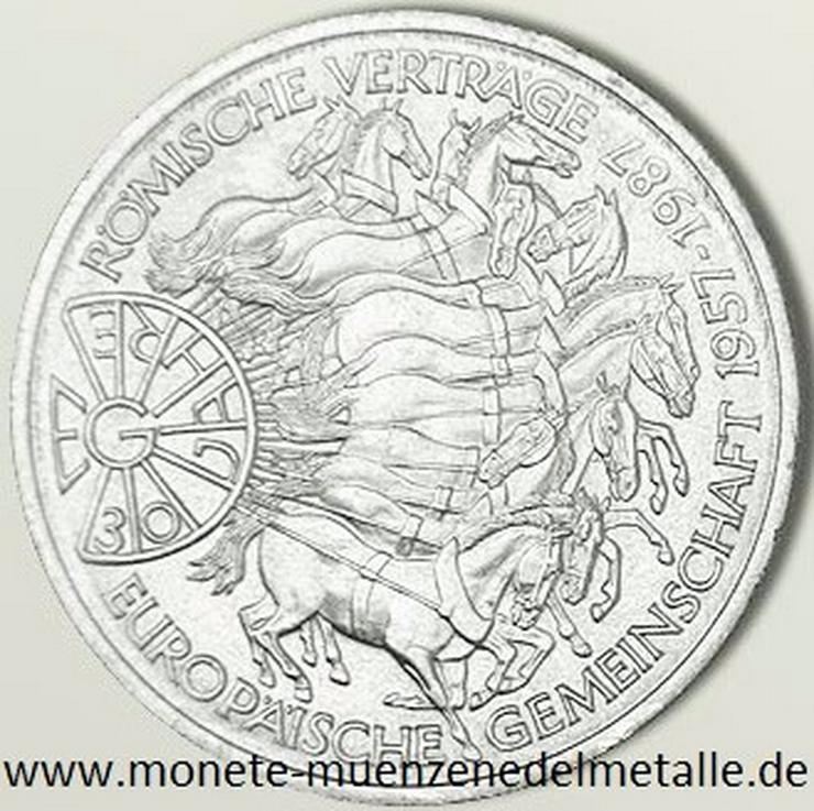Deutschland 10 Mark Römische Verträge 1987 Silber Münze