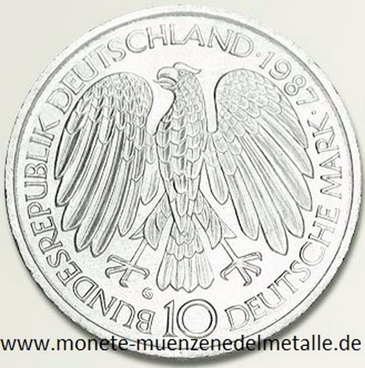 Bild 2: Deutschland 10 Mark Römische Verträge 1987 Silber Münze