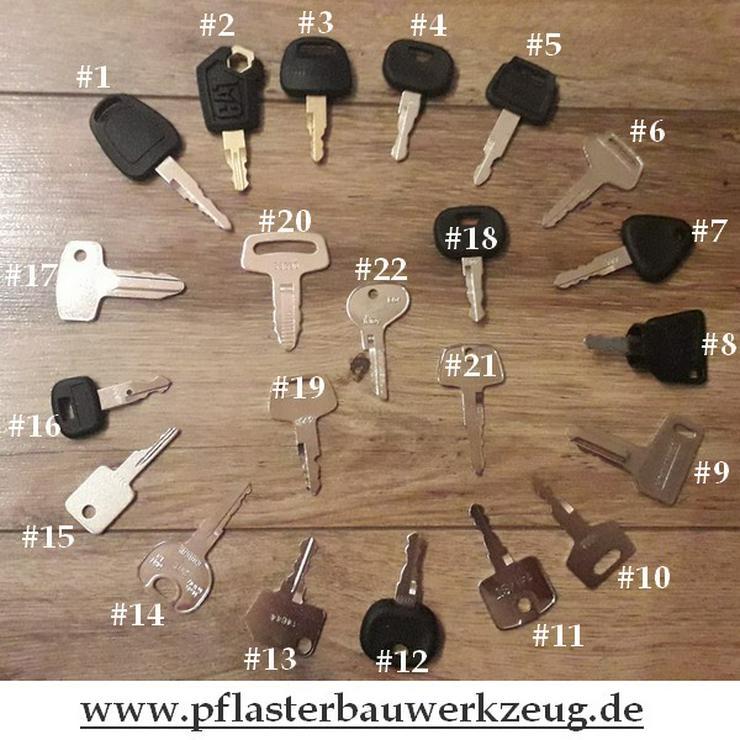 Details zu  Baumaschinen- Zündschlüssel Bagger- Minibagger- Radlader- Stapler- Schlüssel Set  - Maschinen und Werkzeuge - Bild 1