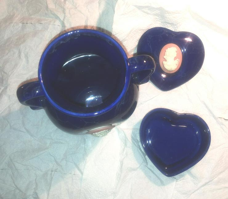 Bild 3: Vase und herzförmige Schmuckschatulle aus Porzellan (FP) noch 1 x Preis runter gesetzt !
