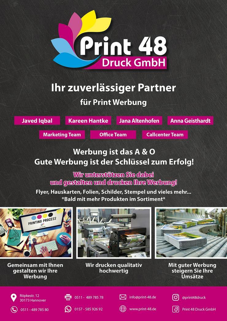 PRINT48 DRUCK GmbH ,FLYER,HAUSKARTEN,FOLIEN,SCHILDER,STEMPEL
