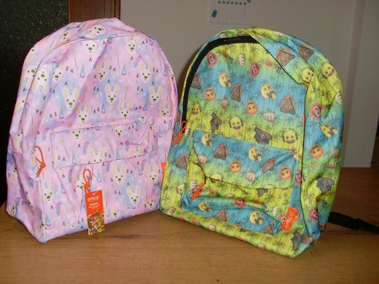 2 Stück Kinderrucksäcke für Mädchen + Jungs von Emoji - Taschen & Rucksäcke - Bild 1