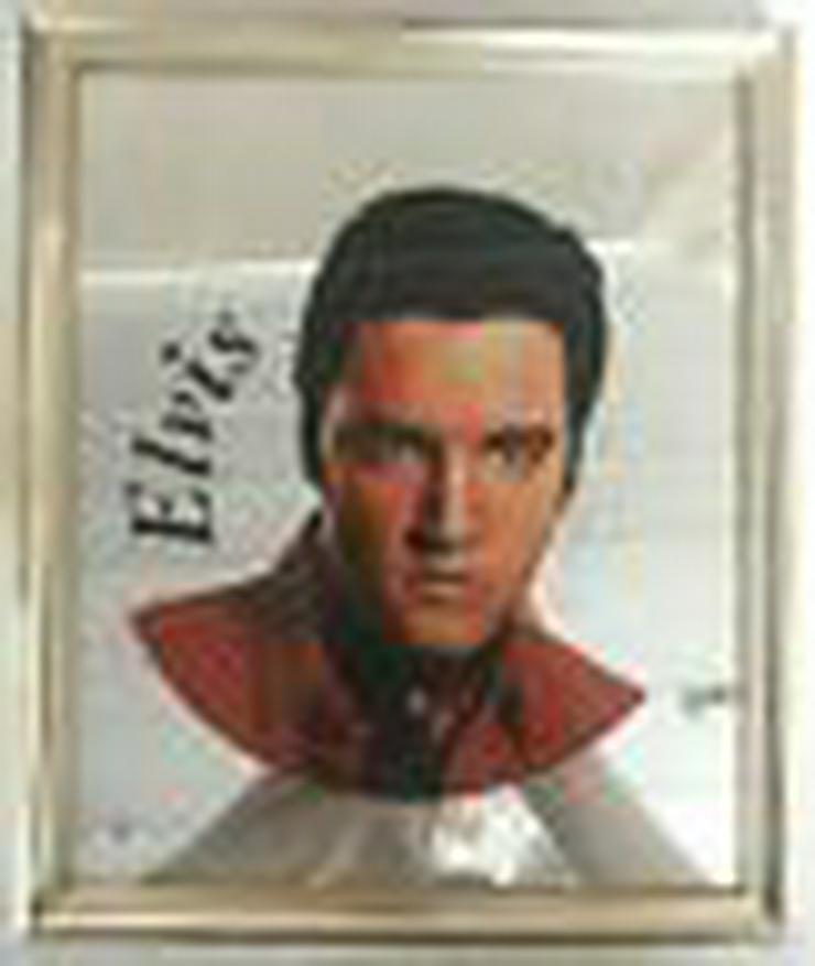 Elvis Presley Spiegel und Bild hinter Glas.  noch einmal reduziert (FP) - Weitere - Bild 1