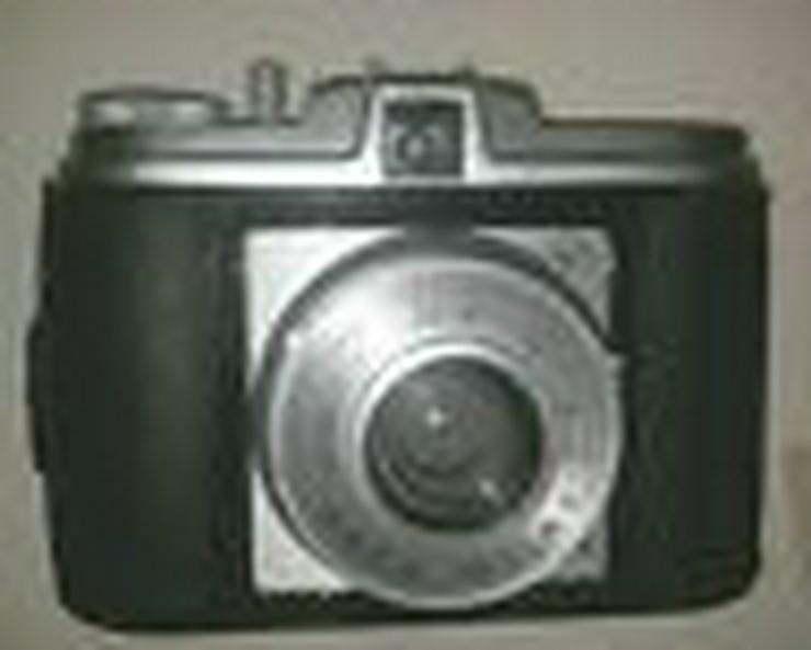 Fotoapparat Agfa Isola i 6045 mit Blitzlichtaufsatz 60ziger (FP)