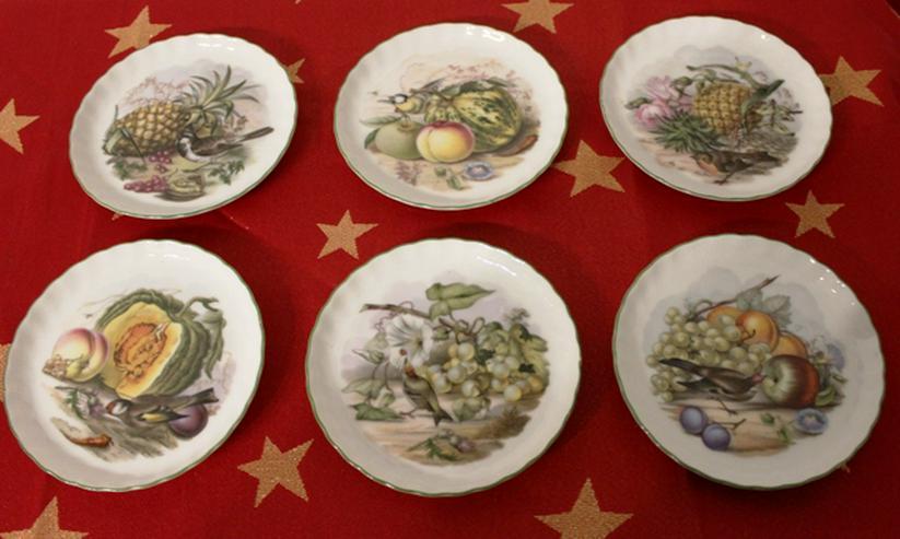 6 kleine Dessertteller/Konfektteller der Manufaktur Royal Tettau handbemalt
