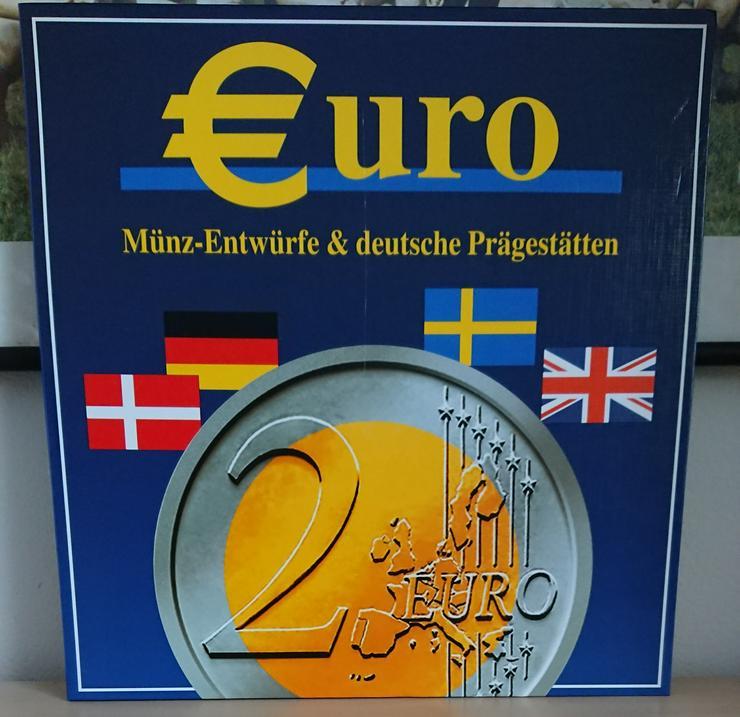Bild 1: Sonderprägungen der EURO-Münzentwürfe  GB / S /DK und Ausgaben der Deutschen Münzprägestätten