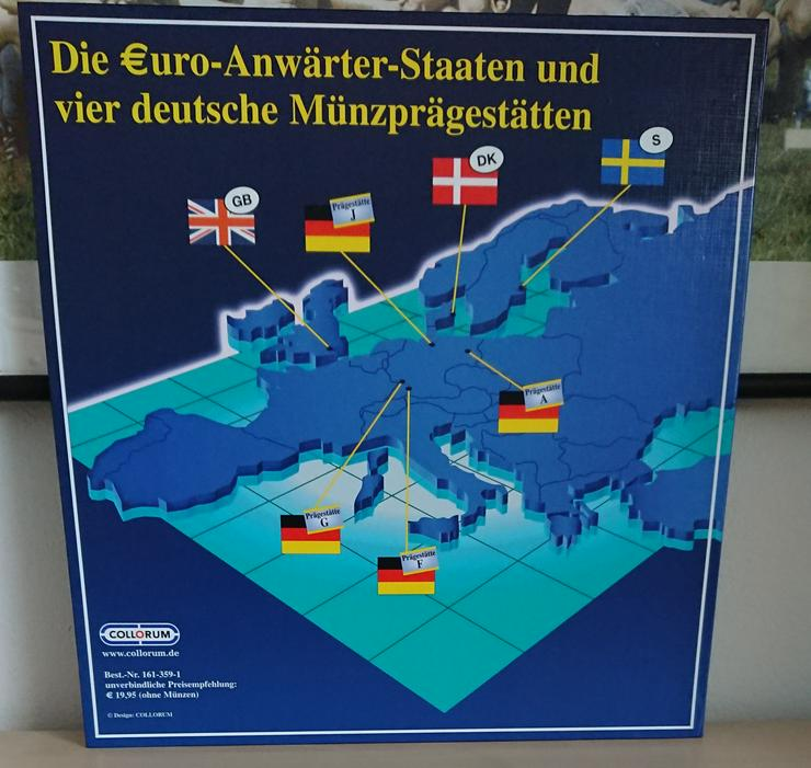 Bild 5: Sonderprägungen der EURO-Münzentwürfe  GB / S /DK und Ausgaben der Deutschen Münzprägestätten