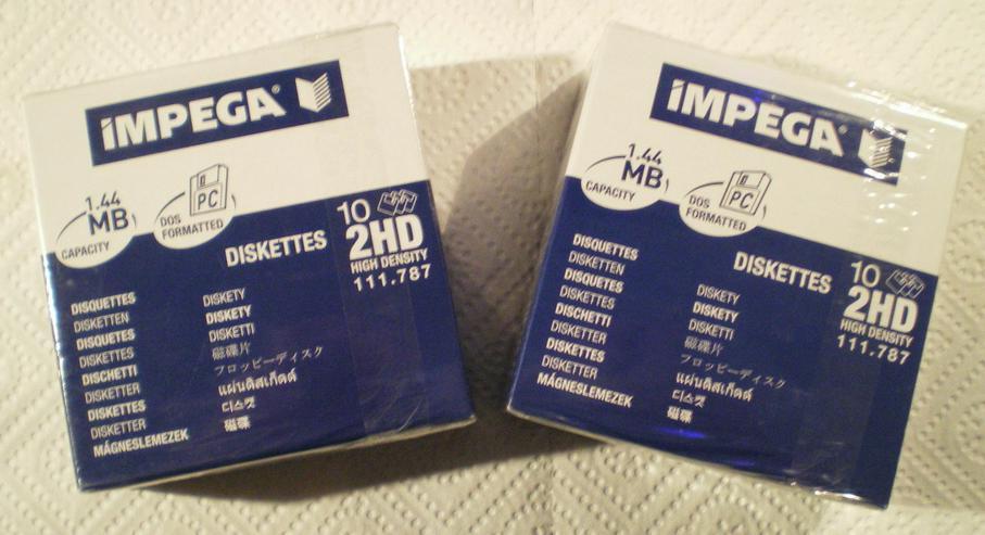 Disketten für den PC (FP) noch 1 x runter gesetzt