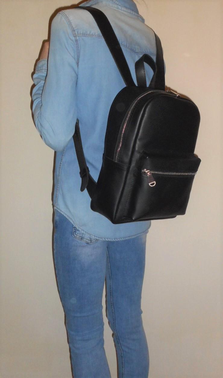 Bild 4: Damen Tasche Echtleder Rucksack Backpack Alami Neu Schwarz neu