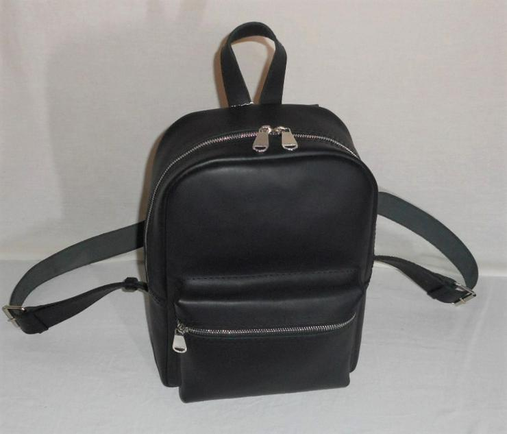 Damen Tasche Echtleder Rucksack Backpack Alami Neu Schwarz neu - Taschen & Rucksäcke - Bild 1
