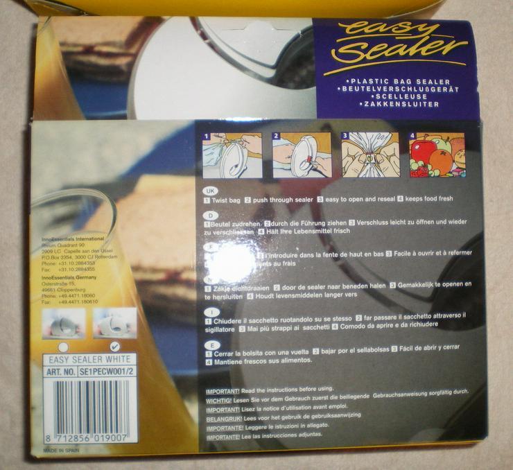 Bild 2: Brotbeutel und andere Dinge Verschlussgerät (FP) noch 1 x Preis runter gesetzt !