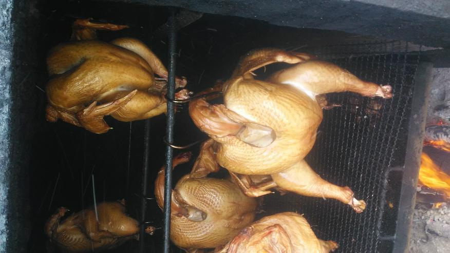 Pute.Hähnchen gebacken.gekasslert Grillente u Hähnchen