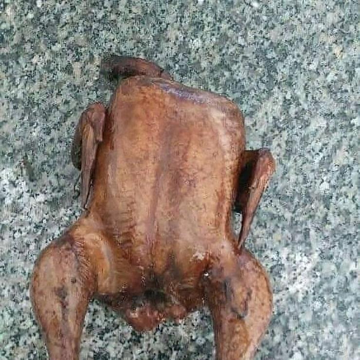 Bild 3: Pute.Hähnchen gebacken.gekasslert Grillente u Hähnchen