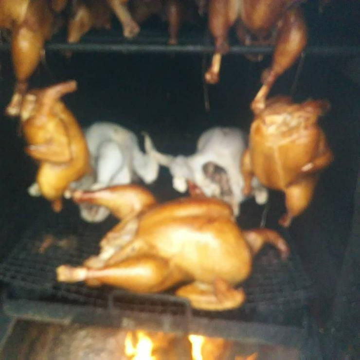 Bild 4: Pute.Hähnchen gebacken.gekasslert Grillente u Hähnchen
