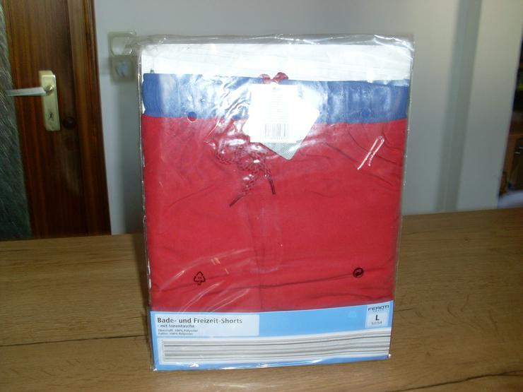 Bild 5: NEU: Herren Bade - Freizeit-Shorts in rot Gr. L 52/54 oder XL/56 v. Feroti