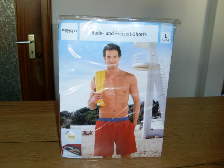 NEU: Herren Bade - Freizeit-Shorts in rot Gr. L 52/54 oder XL/56 v. Feroti