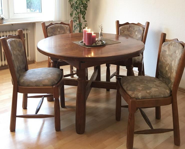 Bild 2: Schöner rustikaler Eichentisch mit 6 Stühlen
