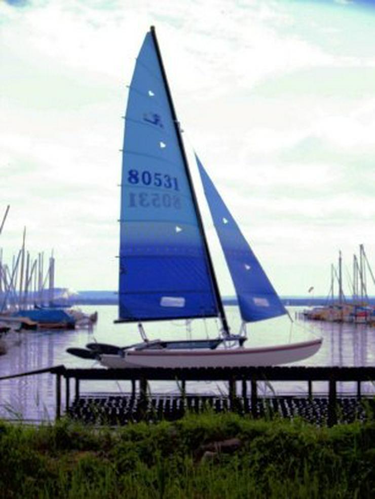 Bild 3: Bootsverleih Kielhorn / Steg N 21  1Tag Hobie Cat 16 segeln auf de Steinhuder Meer