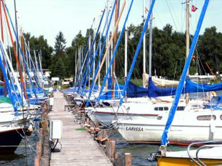 Bild 3: Bootsverleih Kielhorn / Steg  N 21  Bootsliegeplatz am Steinhuder Meer in Mardorf ( 3 m Box )