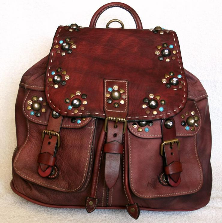 Echtes Leder Rucksack,Neue,Einzelstück