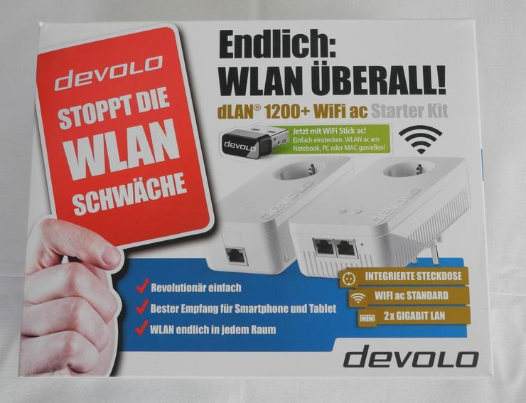 Develo dLAN 1200+WIFI ac Stearter Kit mit USB-Stick