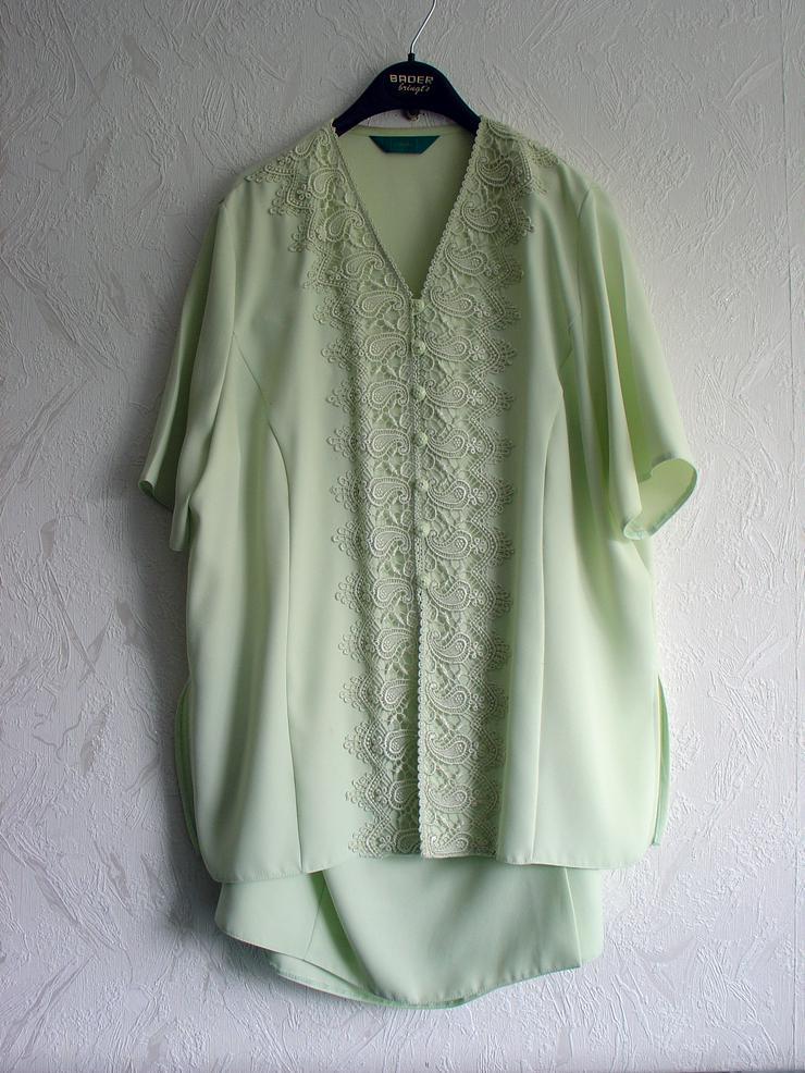 Damen-Kostüm Gr. 50, blassgrün, Oberteil mit Rock - Größen 48-50 / XL - Bild 1