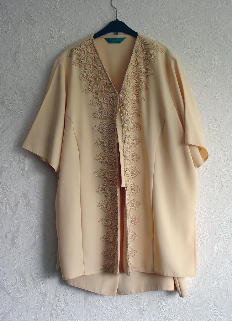Damen-Kostüm Gr. 50, pfirsich, Oberteil mit Rock - Größen 48-50 / XL - Bild 1