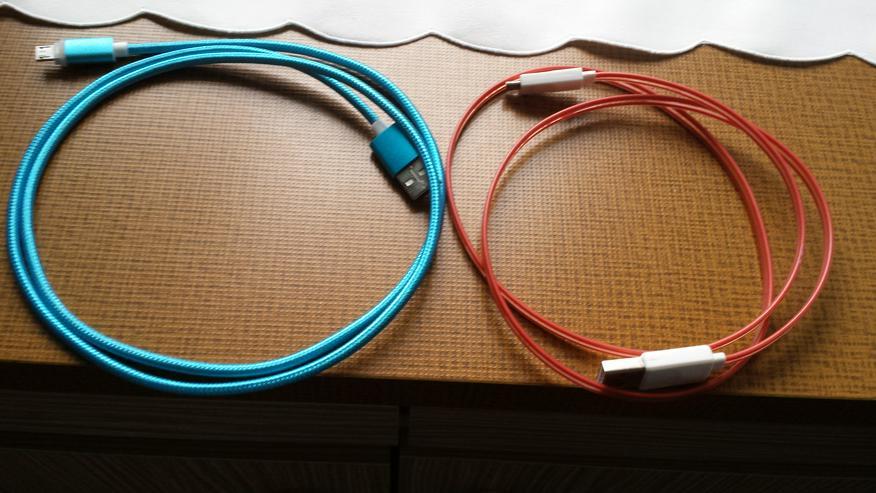 2 USB LED Ladekabel mit Beleuchtung u.a