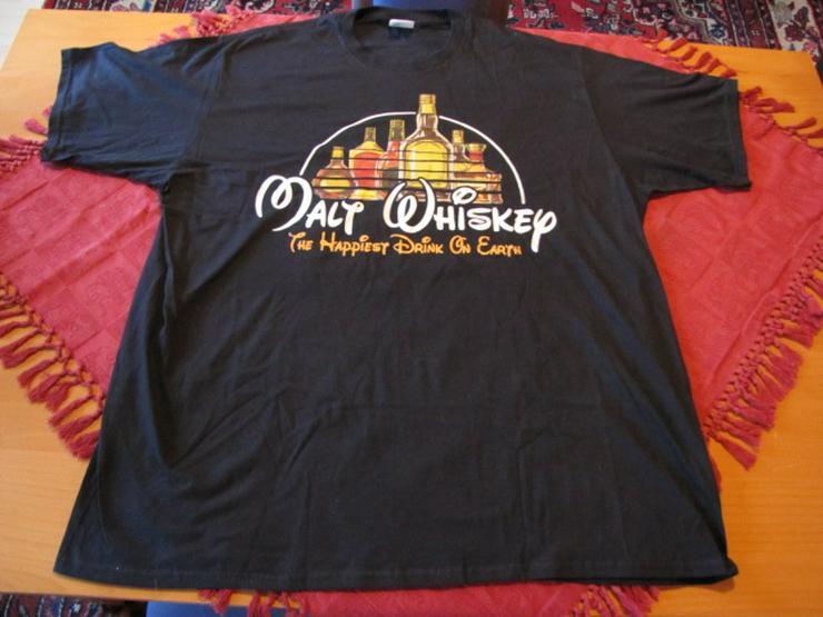 T-Shirt XXL Motiv: Malt Whiskey - The Happiest Drink on Earth - NEU!