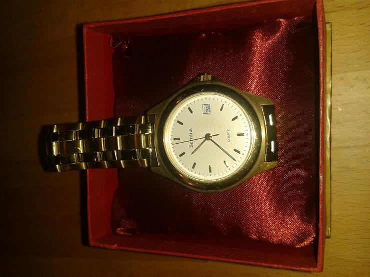 Bernina Quartz-Uhr mit Edelstahl-Armband