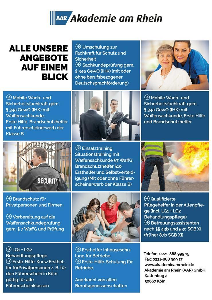 Sachkundeprüfung §34a GewO mit Deutschsprachförderung (TÄGLICH EINSTEIGEN)