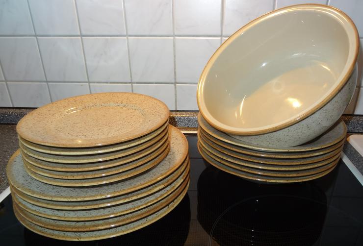 Geschirr - Porzellan-Tafelservice 18tlg. mit Schüssel
