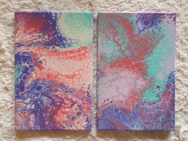 Verschiedene Acrylbilder, abstrakt, Unikate