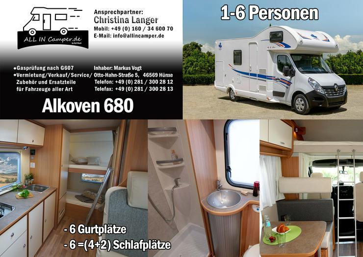 Bild 2:  Wohnmobil mieten1 -6 Personen 2020 Termine frei ab75- 145€ ALL In, auch mit Hund