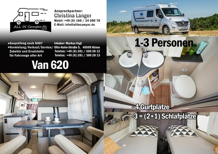Bild 12:  Wohnmobil mieten1 -6 Personen 2020 Termine frei ab75- 145€ ALL In, auch mit Hund