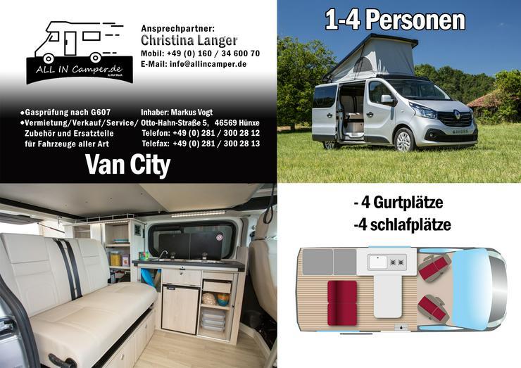 Bild 13:  Wohnmobil mieten1 -6 Personen 2020 Termine frei ab75- 145€ ALL In, auch mit Hund