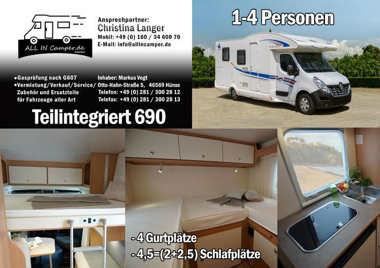 Bild 3:  Wohnmobil mieten1 -6 Personen 2020 Termine frei ab75- 145€ ALL In, auch mit Hund