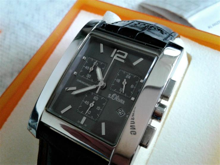 s.Oliver Herrenchronograph incl.Uhrenbox,Papiere