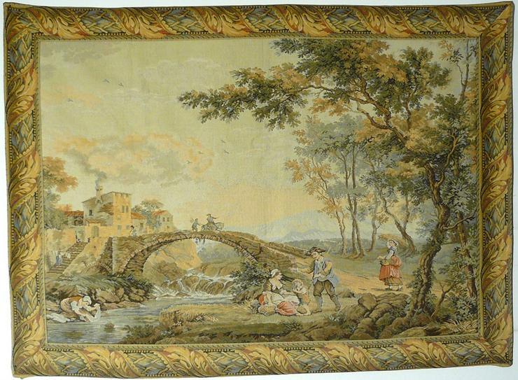 Gobelin Bildteppich Wäscherinnen am Fluss (G033)