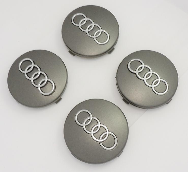 Audi Nabenkappen Nabendeckel Felgendeckel 60mm grau Radnabendecke