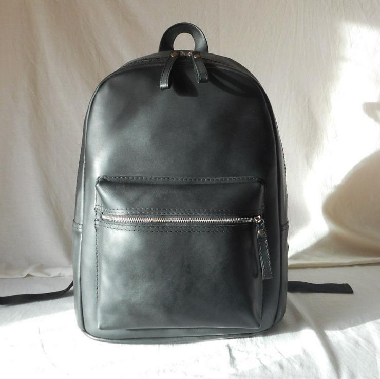 Echtleder Rucksack Backpack Notebook Neu Schwarz
