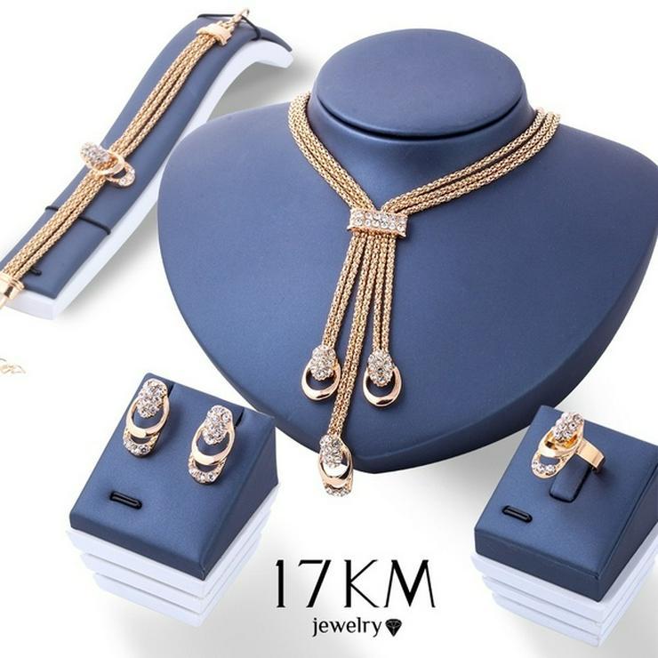 Schmuck Set 5-teilig Halskette- Ohrringe- Armband- Ring NEU/OVP