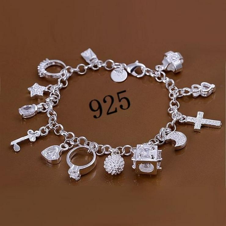 """Armband 925 Silber gestempelt """"Bettelarmband"""" NEU /OVP"""