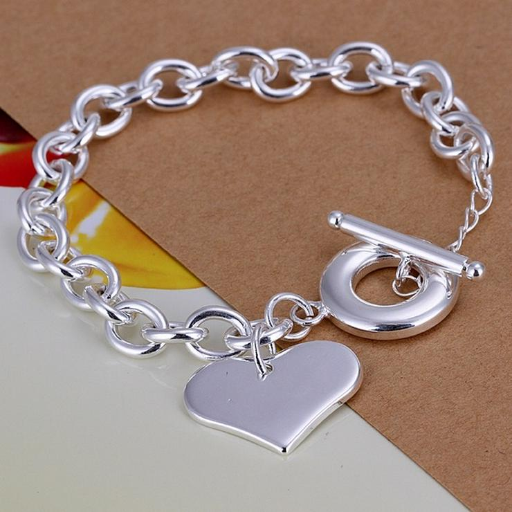 Armband Herz und Ring Silber Kettenarmband NEU/OVP
