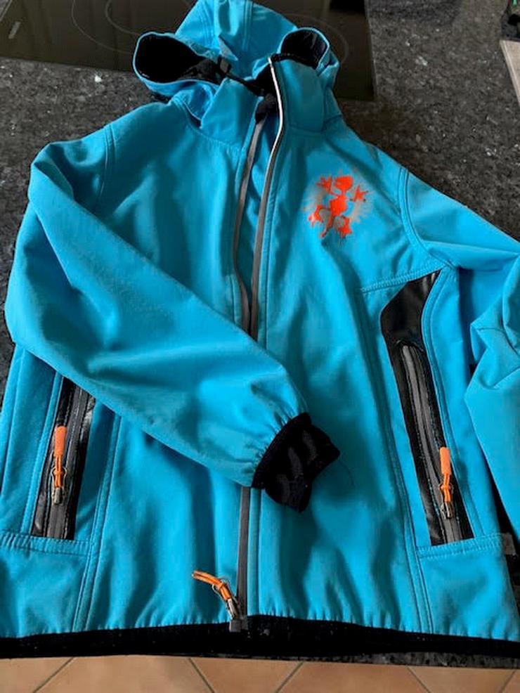 Exes Softshell Jacke blau, Größe 140 - Schneeanzüge, Winterjacken & Regenbekleidung - Bild 1