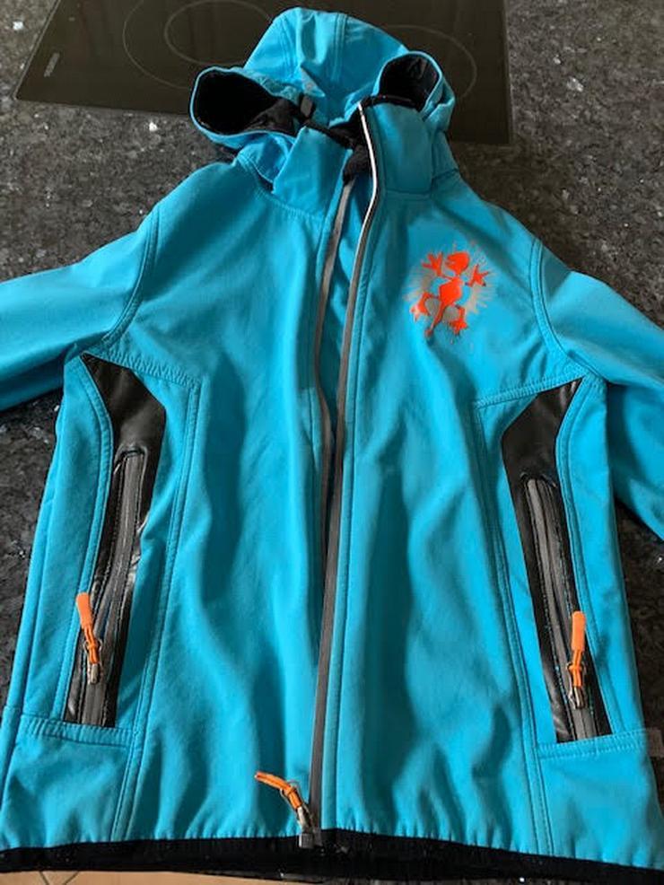 Bild 3: Exes Softshell Jacke blau, Größe 140